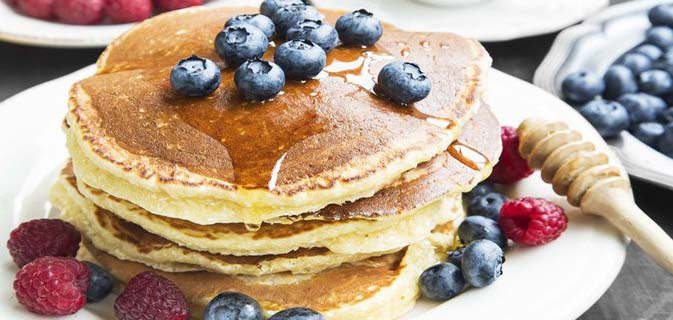 Fruit Gala with Pancakes Best Healthy Breakfast