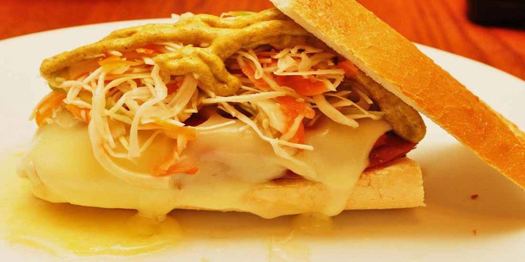 Swiss Sandwich with Spinach Sauce Best Healthy Breakfast