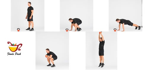 Image of Doing Kettlebell Workout Burpee
