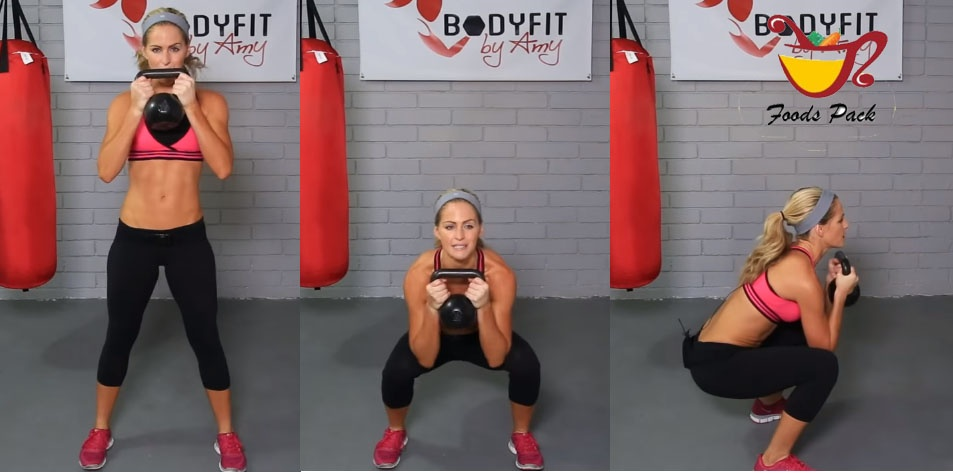 Image Showing How to Do Kettlebell Workout Squat