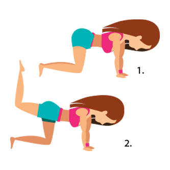 Image Showing How to Do Pointed Butt Lift Exercise