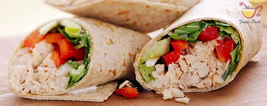 Quickest Healthy Meal Tuna Wrap in 10 Minutes Image