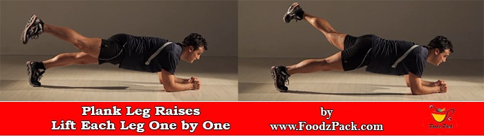 Image of man Doing Leg Raises Plank